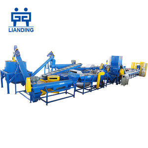 1000kg/h pet plastic recycling line/machine, pet bottle crushing washing drying line