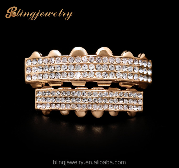 Cheap 6PCS Teeth Grillz With Crystal