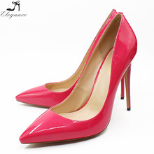 High Quality Ladies Brand 12 cm Stiletto Made In China Rose Red High Hight Heel Women Shoes
