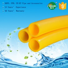 china supplier red white color plastic pert tube for hot water