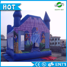 Newest 0.55mm PVC kids and adult inflatable snow white theme jumping castle bouncer