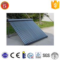 30 tube Heat Pipe solar thermal collector price with solar keymark