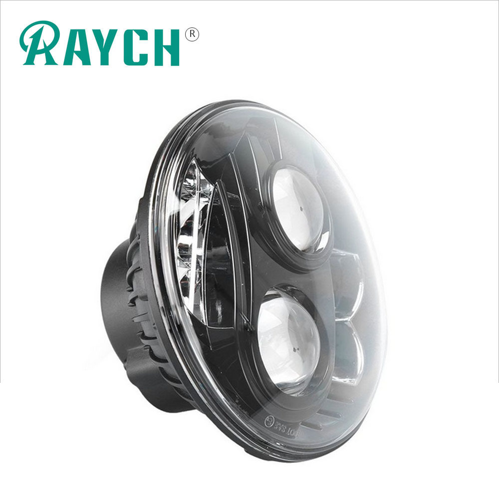 "Harley 7"" Led Headlight 80W 7 Inch Round Projector Daymaker Hi/Lo Beam Headlamp Driving Light DRL Motorcycle Led Headlights"