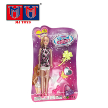 wholesale low price dress fashion dolls 11 inch with hat handbag set