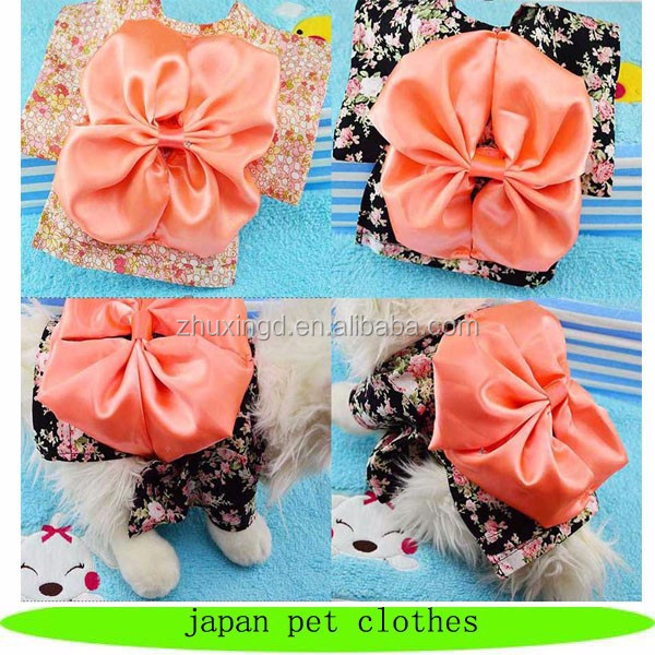 Japan kimono style pet dress japan pet clothes