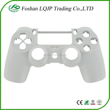 Replacement OEM front housing shell face facia for PS4 controller white housing shell