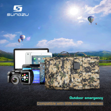 Hot Sale Foldable Solar Panel Bag Laptop Charger Output Dual USB 5V DC 12V/19V