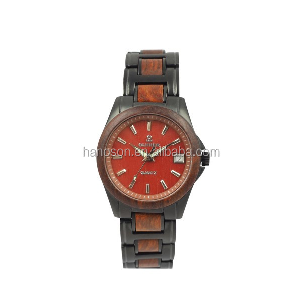 New arrival!!! Chocolates color wooden famale watch with fashion design