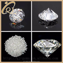 Wuzhou factory 2.0mm AAA round cut synthetic white cubic zirconia gemstone nepal