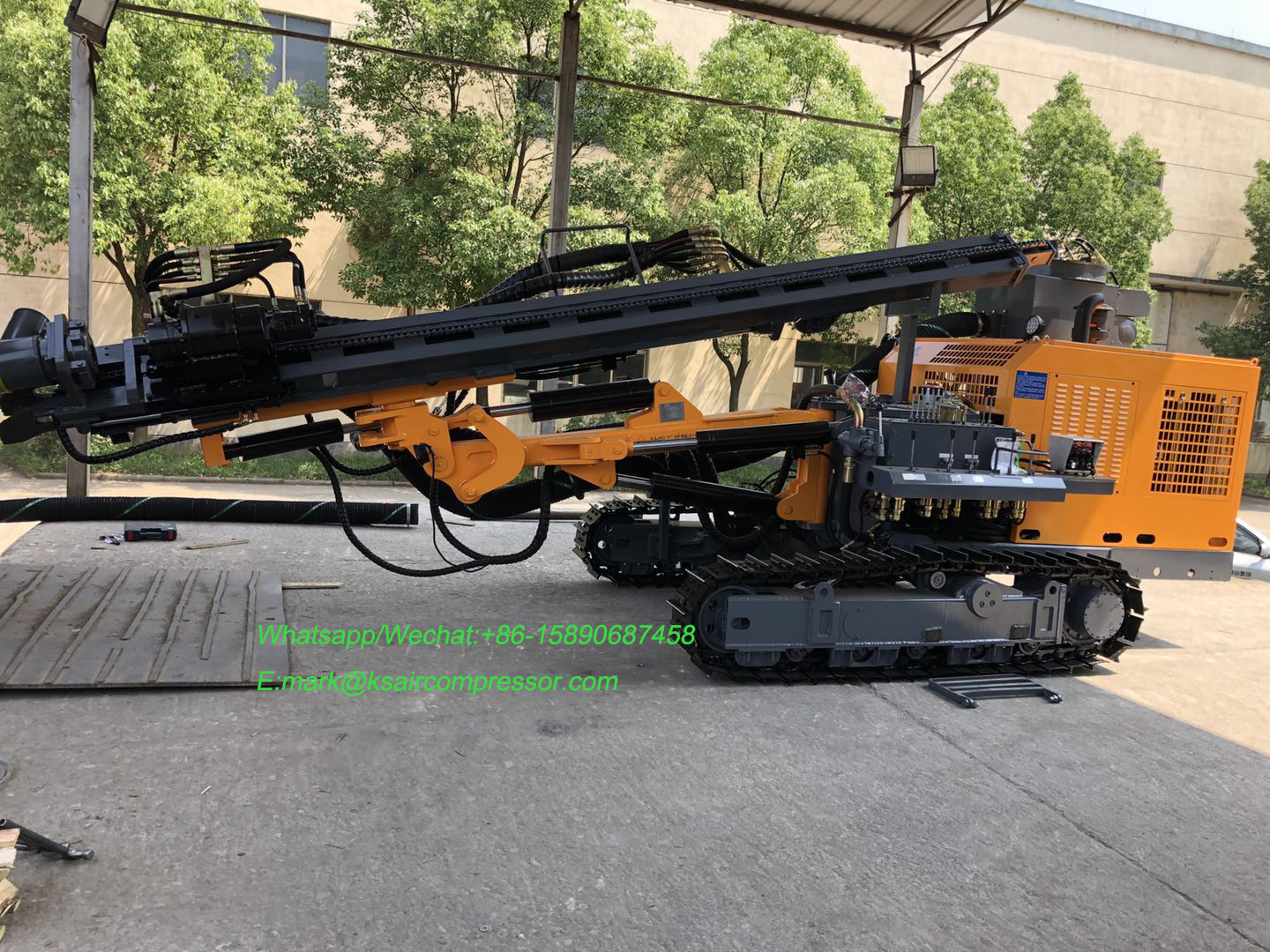 New 40m Depth KG610/KG610H Kaishan brand  Down the hole Drill Rig for Open use blast mining drilling well
