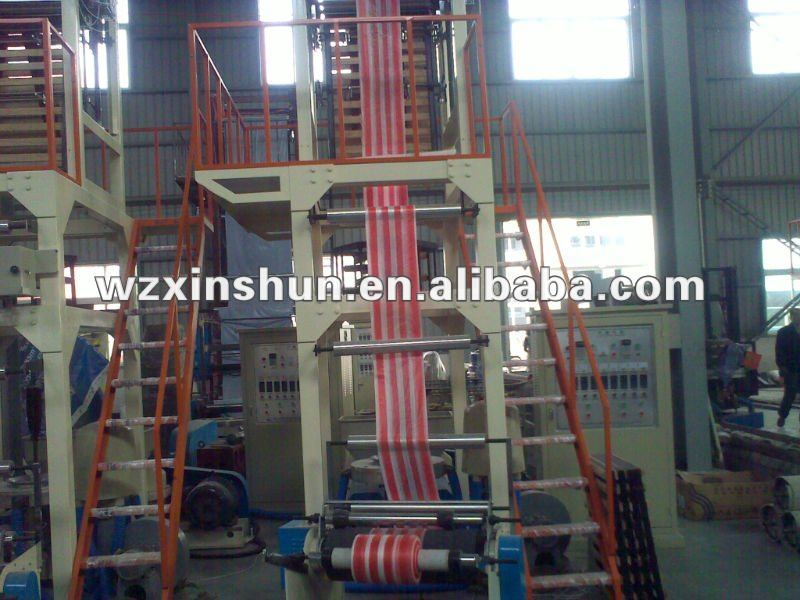 Two Colors Striped PE Film Blowing Machine