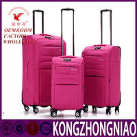 Kong zhongniao hand luggage aluminium trolley set for travel trolley luggage with universal wheels