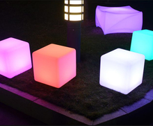 Most popular LED outdoor plastic cube furniture