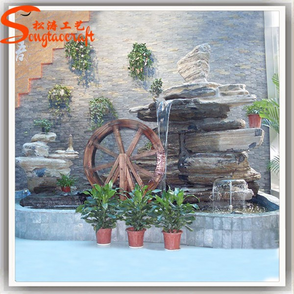 Factory sale artificial water fountains artificial garden for Big garden rocks for sale