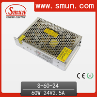 S-60-24 Single Output 60W 24VDC 2.5A Output LED Driver For LED Lighting