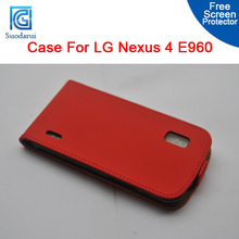 For LG Nexus 4 E960 Slim Flip Leather Case - Cover Pouch suodarui