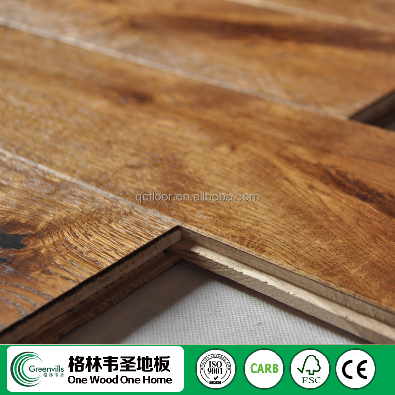 Cheap Price Solid Oak Smoked & Brushed Matte Gloss wood flooring