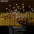 MEEROSEE Modern Nordic Countryside Style Fancy Light Tree Branch Creative LED Pendant Lamp for Dinning Room Restaurant MD85431