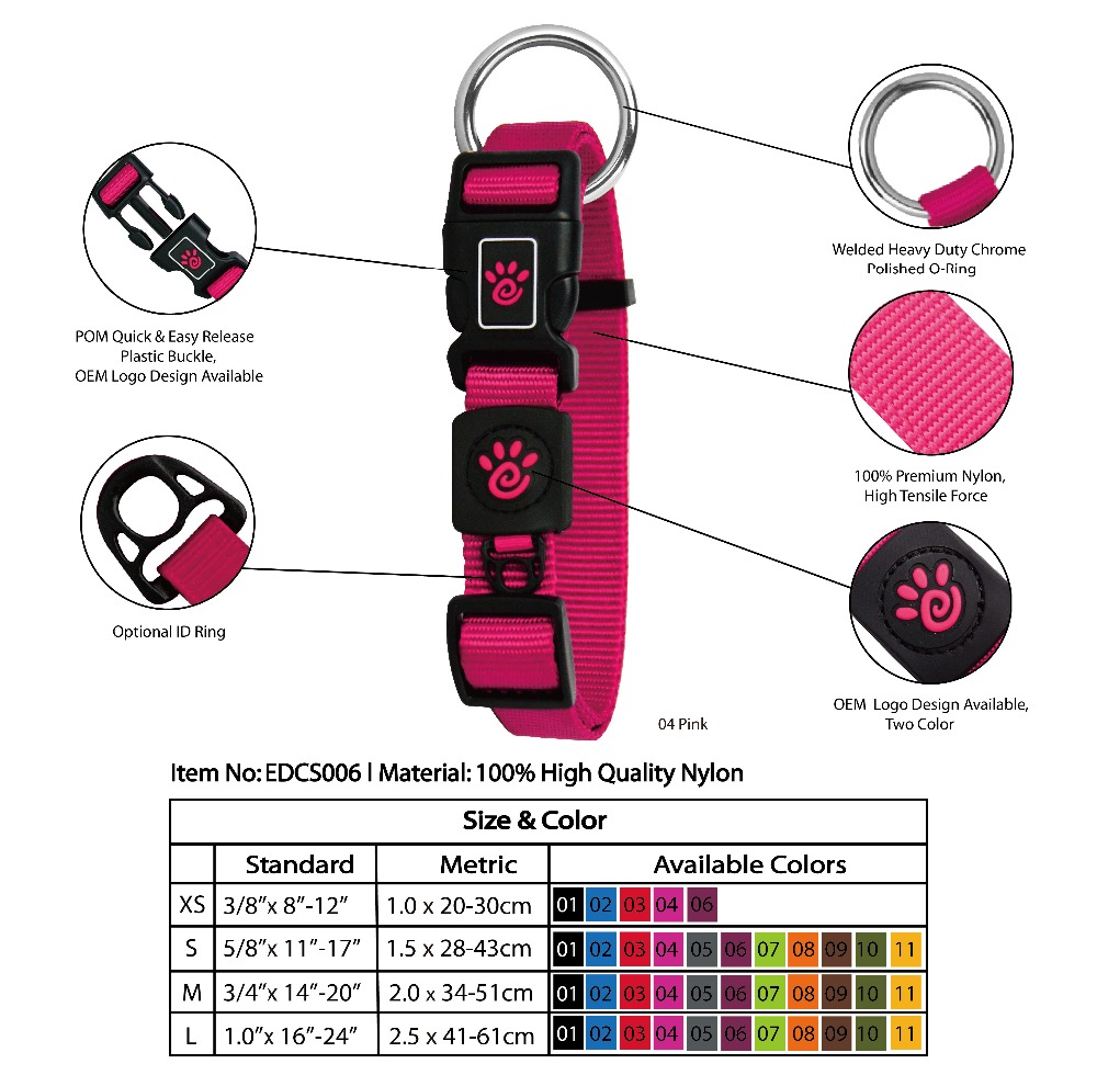 Hot Sale Soft Nylon O-Ring Dog Collar for Dog Training