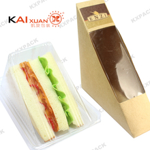 disposable triangle transparent sandwich box plastic cake container
