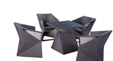 Audrey Outdoor Garden Furniture All Weather Rattan Wicker Dining Furniture Leisure Table and Chair