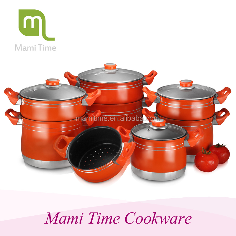 Aluminum Steamer Pot Set With Bakalite Handle