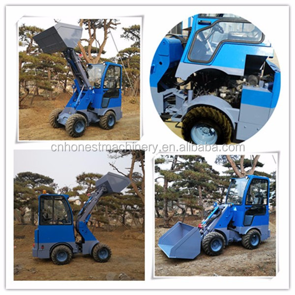 China 4x4 garden tractor with front loader for sale