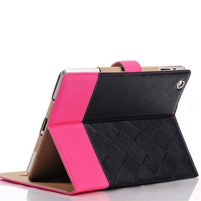 For the new iPad 234 case Superior Fashion Mix-colors PU Leather Case Magnetic Snap Belt Anti-skid Stand Smart Cover