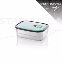 15-17cm 2 size stainless steel lunch box with vent/ preservation box/ food packaging containers