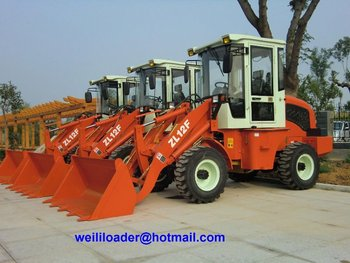 2012 Hot sales Mini wheeled loader with CE, 1200kg