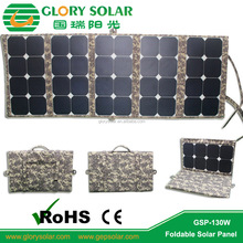 130W Folding Solar Panel Charger For Travel Camping, Outdoor Activity Compatible With Laptops,Tablet,Computer,Storage Battery