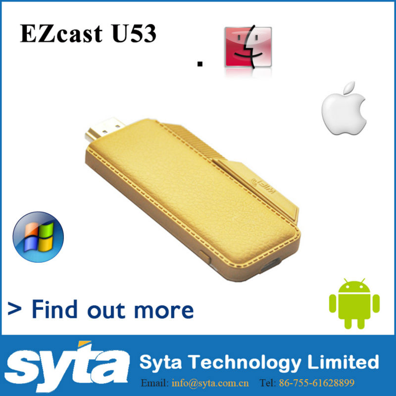 2014 The newest modle of SYTA Wifi display dongle, EZcast dongle, support mirroring based on Android/windows/Mac OS.