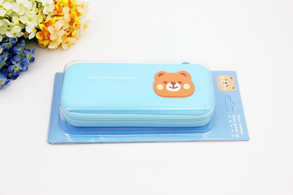 100% food grade gel silicone funny interesting designed cartoon s-key soft flexible pencil box