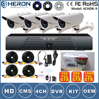 New products 2016 800tvl security cctv 4ch camera system outdoor