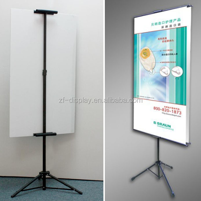 Easel Tripod Poster Stand, Advertising Foam Board Stand Poster Display Rack