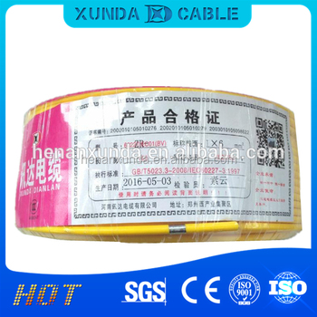 50mm2 PVC insulation with copper solid and stranded conductor cable chinese standard bv wire 35