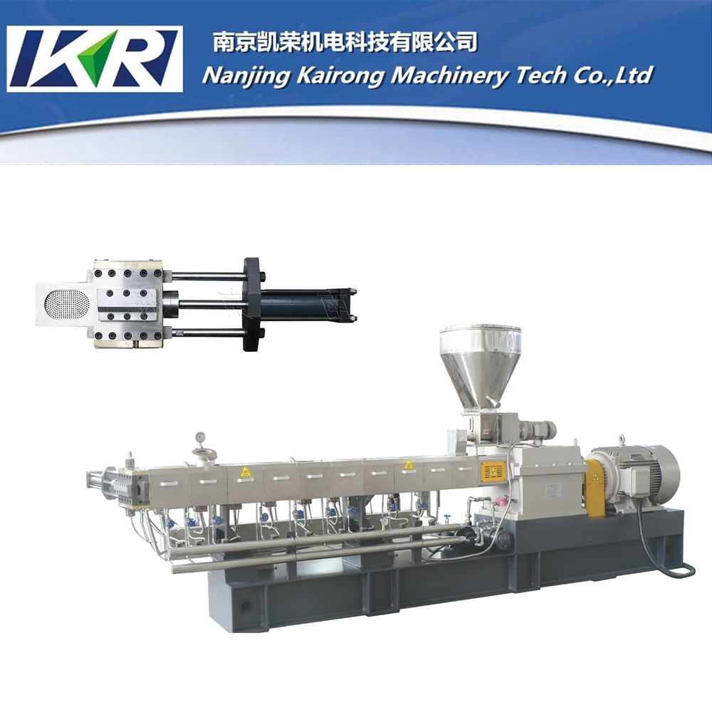 Monofilament plastic extrusion machine twin screw extruder for sale