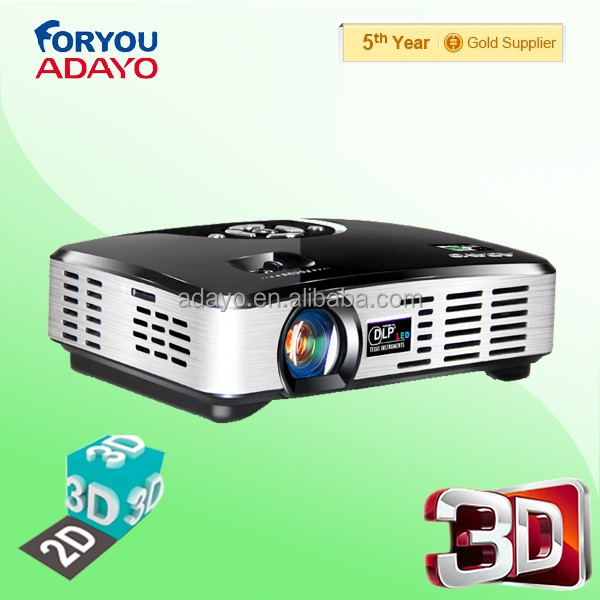 ADAYO dlp 3d led projector without 3d glasses