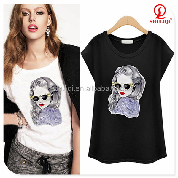 sublimation tshirts in bulk, silk printing women t shirt with custom tag