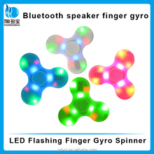 wholesale portable LED wireless rechargerable bluetooth speaker for finger gyro spinner