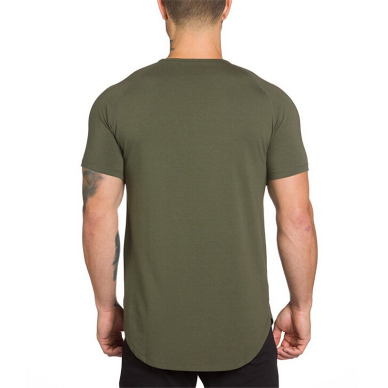 O Neck Sexy Men T-Shirt Muscle Fit T Shirt-5