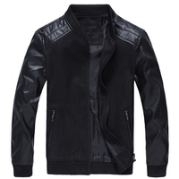 W92324A 2016 new design men jacket Men's casual jacket coat winter leather jacket