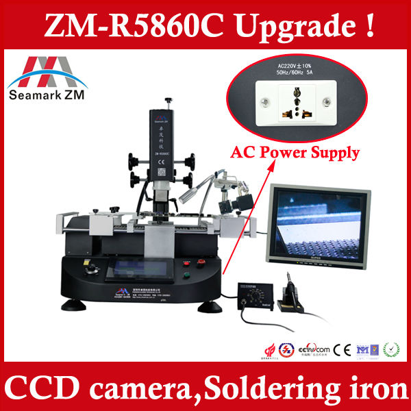 High Performance ! Zhuomao BGA Rework Station ZM-R5860C with Camera monitor, upgraded from scotle hr6000 and scotle hr460
