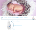 Voice sensor baby shusher soothing sound machine with recording function