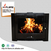 Wall Wood Burning Fireplace style Without Remote Control Function European Cast Iron Fireplace Insert HF577IU7 Black