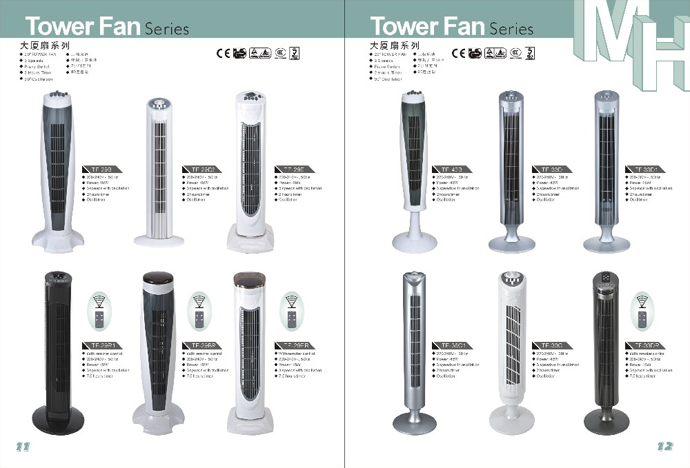 29'' TOWER FAN NICE DESIGN STRONG WIND(with remote control) TF-29R