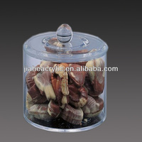 customised durable clear acrylic clear plastic candy jars and containers