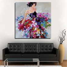 Modern abstract beautiful girl handmade oil painting abstract canvas painting for living room