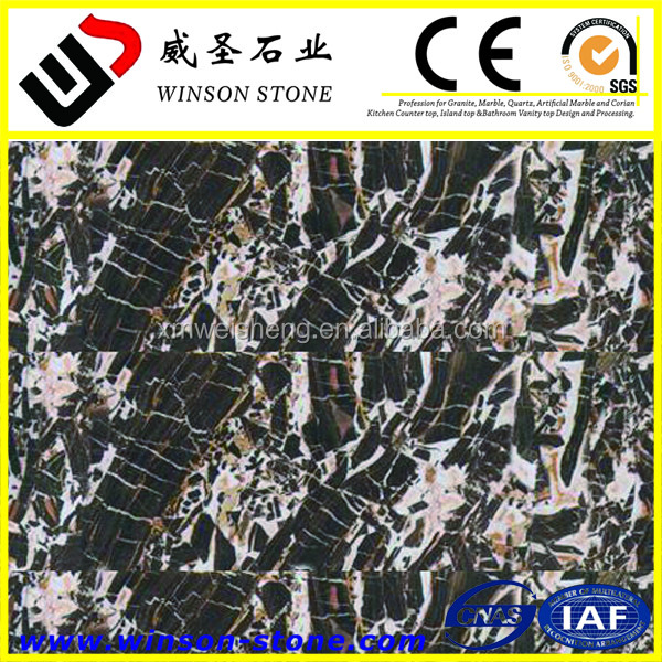 Italy Cheap jade kylin onyx black marble nature stone block importer price for Interior floor tiles usage