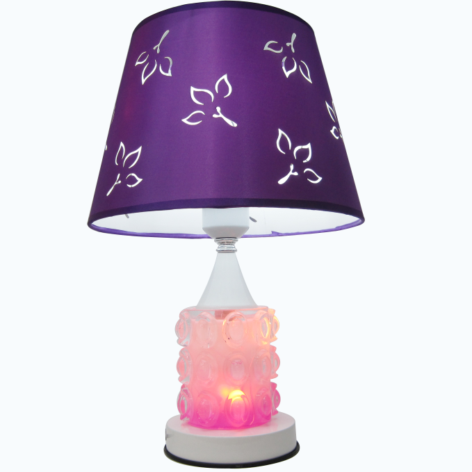Export Saudi Arabia Egypt Africa touch desk lamp light glass base purple led table lamp factory